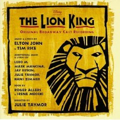 The Lion King cast album cover