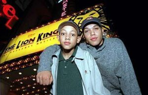 Scott Irby-Ranniar and Jason outside the New Amsterdam Theatre